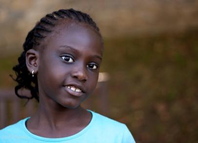 Retrato niña senegalesa